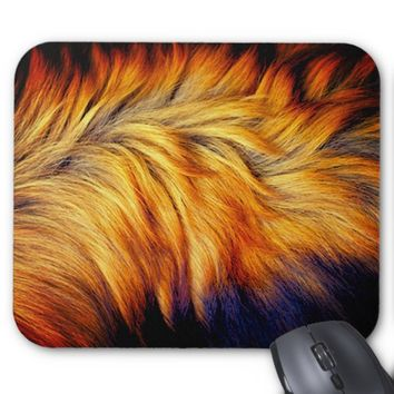 Cool Trendy Brown Horse fur texture design Mouse Pad