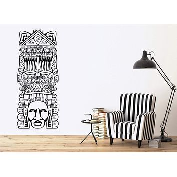 Vinyl Decal Wall Sticker Aztec Totem Poles North American resident Unique Gift (n722)