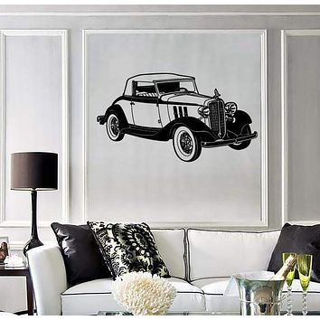 Wall Stickers Vinyl Decal Vintage Retro Old Car Garage (ig920)