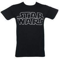Men's Black Star Wars Classic Logo T-Shirt : TruffleShuffle.com