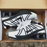 NIKE SHOX Tide brand men and women models mesh breathable sports running shoes