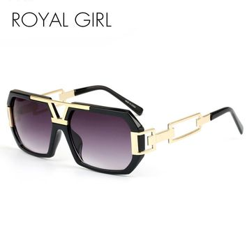 ROYAL GIRL Vintage Square Sunglasses for Women Men Brand New Glasses Acetate Frames Oculos