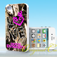Love Browning Deer Camo - Print on hardplastic for iPhone 4/4s and 5 case, Samsung Galaxy S3/S4 case.