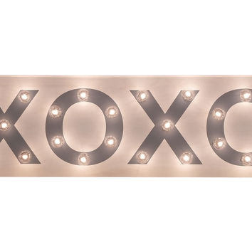 "Marquee Light-Up ""XOXO"" Sign"