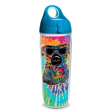 Tervis Project Paws Tie Dye Dog with turquoise lid, 24 oz. water bottle