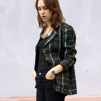 Shop Tartan Blazer on Wanelo