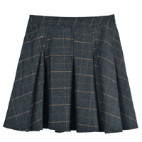 Plaid Mini Skater Skirt