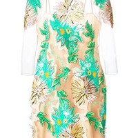 Blumarine Embroidered Floral Design Dress - Parisi - Farfetch.com