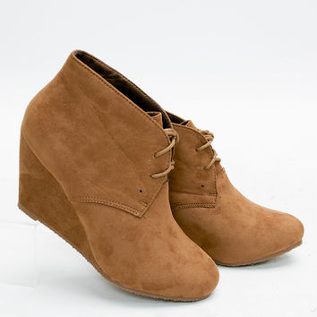 Washington Wedge Tie Booties