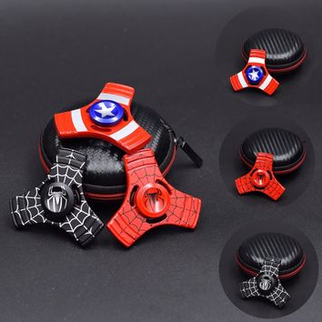 Spiderman Captain America Fidget Spinner For Autism And ADHD Rotation Time Long Anti Stress Toys