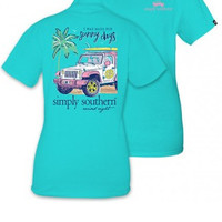 """Simply Southern """"Sunny Days"""" Tee- Teal"""