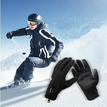 Man Winter Ski sport waterproof gloves touch screen men ski and riding gloves snowboard Motorcycle gloves