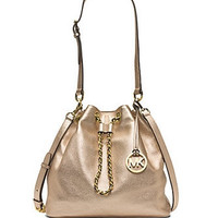 Michael Michael Kors Large Frankie Metallic Leather Shoulder Bag