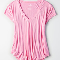 AE Soft & Sexy V Neck T-Shirt, Light Pink