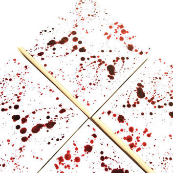 Blood Splatter Coasters, Red Ink Spill, Dexter Inspired, True Blood, Paint Spatter