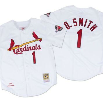 DCCKFC9 Mitchell & Ness Ozzie Smith 1992 Authentic Jersey St. Louis Cardinals In White