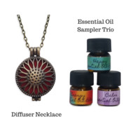 Sunflower Diffuser Necklace Locket