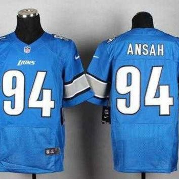 PEAP1N Nike Detroit Lions #94 Ziggy Ansah Blue Team Color NFL Elite Jersey
