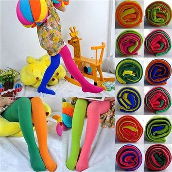 Candy Color Spring Autumn Velvet Pantyhose Soft Ballet Dance Stocking Pants Legging for Baby Girl Child Lovely Pantyhose 1 Pair