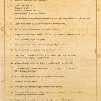 Dalai Lama Instructions for Life Quotes Poster 24x36