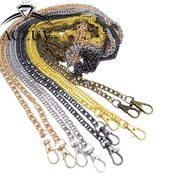 Multi-size Optional Double Woven Chain Swivel Snap Hook Lobster Clasp Metal Purse Chain Handles Bag Parts Accssories AP004
