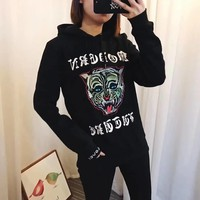gucci women s tiger head sequins embroidery top sweater pullover hoodie-1