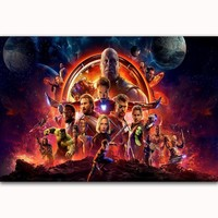 MQ3451 Hot Avengers Infinity War Movie Marvel Comics Banner Film New Art Poster Silk Canvas Home Decoration Wall Picture Print