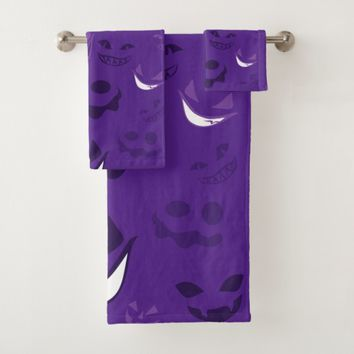 Spooky Faces Bath Towel Set