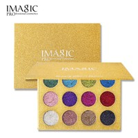 IMAGIC 12 Color Diamond Eye Shadow Makeup Glitter Eyeshadow Palette Sparkling Pigment Shimmer Glitterinjections Rainbow Cosmetic