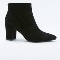 Vagabond Saida Black Suede Point Ankle Boots - Urban Outfitters