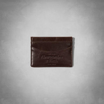 Logo Embossed Leather Card Case
