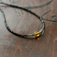 Golden Snitch beaded necklace