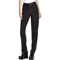 DKNY Womens Wool Tuxedo Stripe Dress Pants
