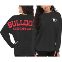 Georgia Bulldogs Women's Sweeper Long Sleeve Top – Gray