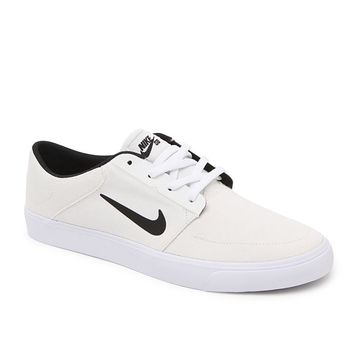 Nike SB Portmore Canvas Shoes - Mens Shoes - White