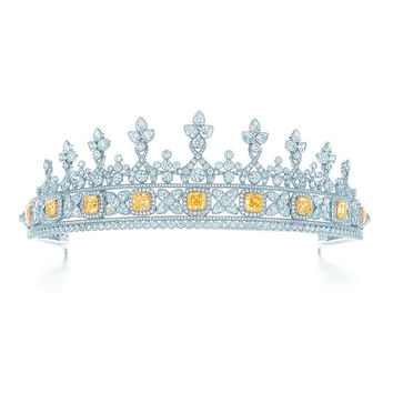 Tiffany & Co. - Tiara of white and Fancy Intense Yellow diamonds with detachable bracelet.