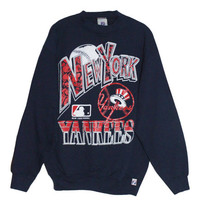 Vintage 90s New York Yankees Baseball Crewneck Sweatshirt | Adult Size Large L | NYC, 1990s, Major Baseball League, MBL, Hanes 1993