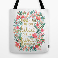 Little & Fierce Tote Bag by Cat Coquillette