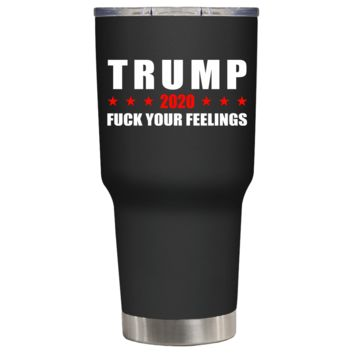 Trump 2020 on Black 30 oz Tumbler