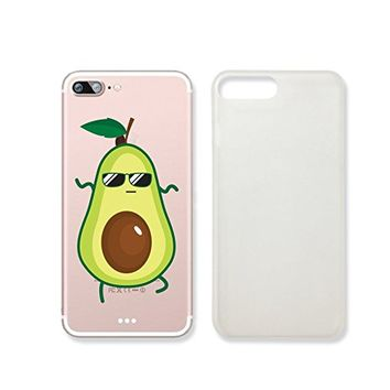 Cute Avocado Clear Transparent Plastic Phone Case/ PhoneCover for Iphone 7_ SUPERTRAMPshop (iphone 7)