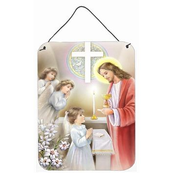 First Communion Girl Wall or Door Hanging Prints APH7585DS1216