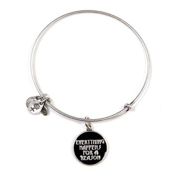 Alex and Ani Everything Happens For A Reason Charm Bangle - Russian Silver