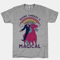 BERNIE SANDERS ON A MAGICAL UNICORN