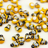 Home Decoration 100PCS/Lot Mini Bee Wooden Ladybug Sponge Self-adhesive Stickers Fridge/Wall Sticker Kids Scrapbooking Baby Toys
