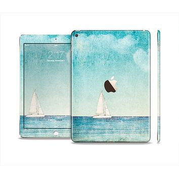 The Faded WaterColor Sail Boat Skin Set for the Apple iPad Air 2