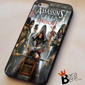 Assassin's Creed Syndicate iPhone 4s iphone 5 iphone 5s iphone 6 case, Samsung s3 samsung s4 samsung s5 note 3 note 4 case, iPod 4 5 Case