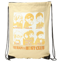Ouran High School Host Club Character Cinch Back Sack