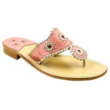 Exclusive Ostrich in Pink and Platinum Navajo Sandals by Jack Rogers - FINAL SALE