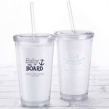 Personalized Printed Acrylic Tumbler - Baby Shower