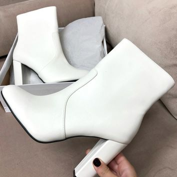 With You Again White Bootie
